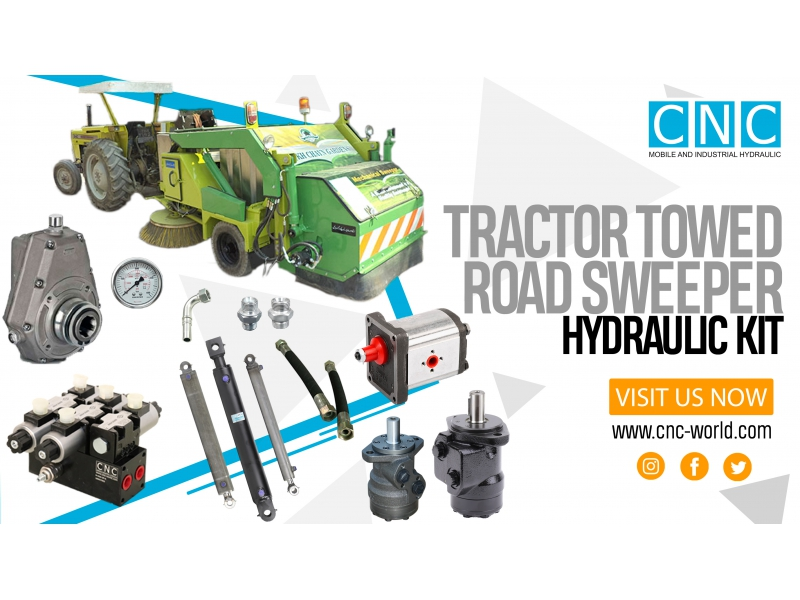 TRACTOR TOWED ROAD SWEEPER HYDRAULIC KIT